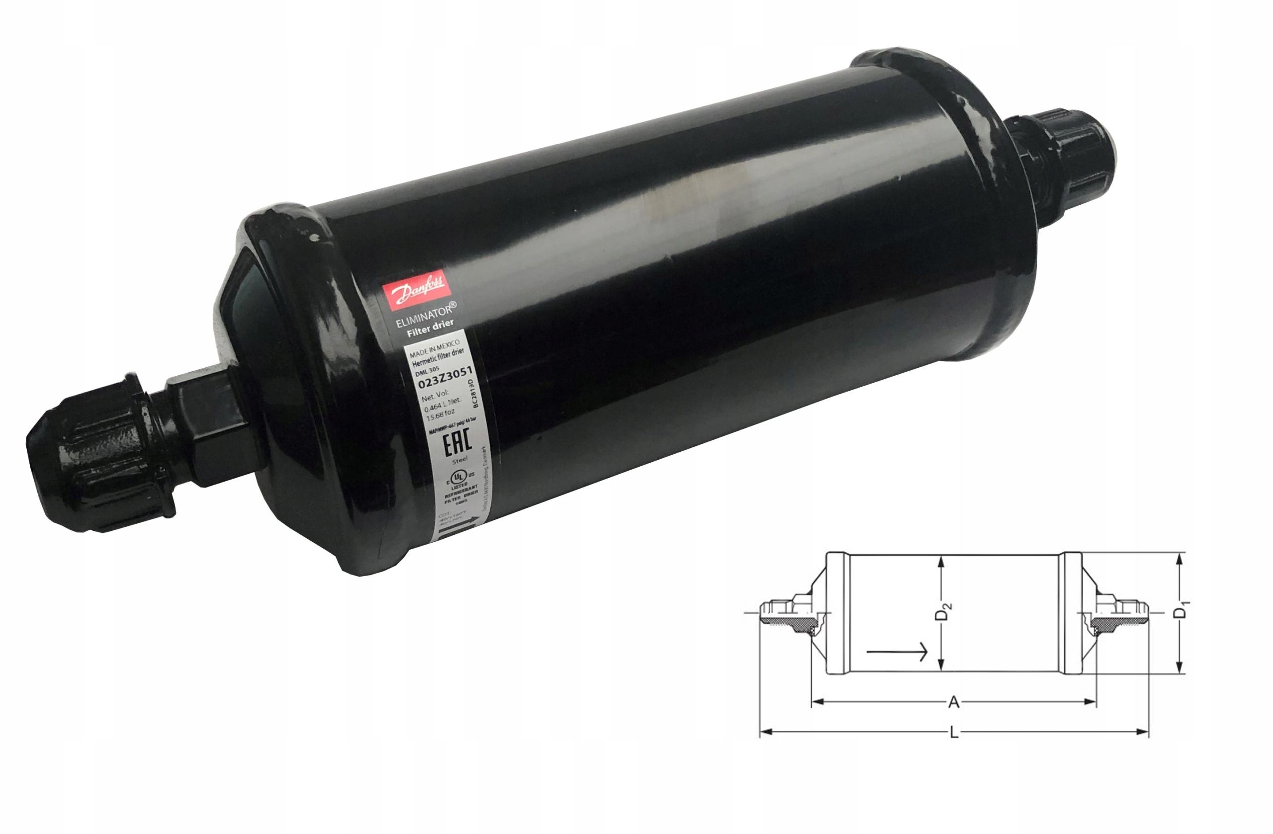 фильтр клапан danfoss dml305 16mm  16mm