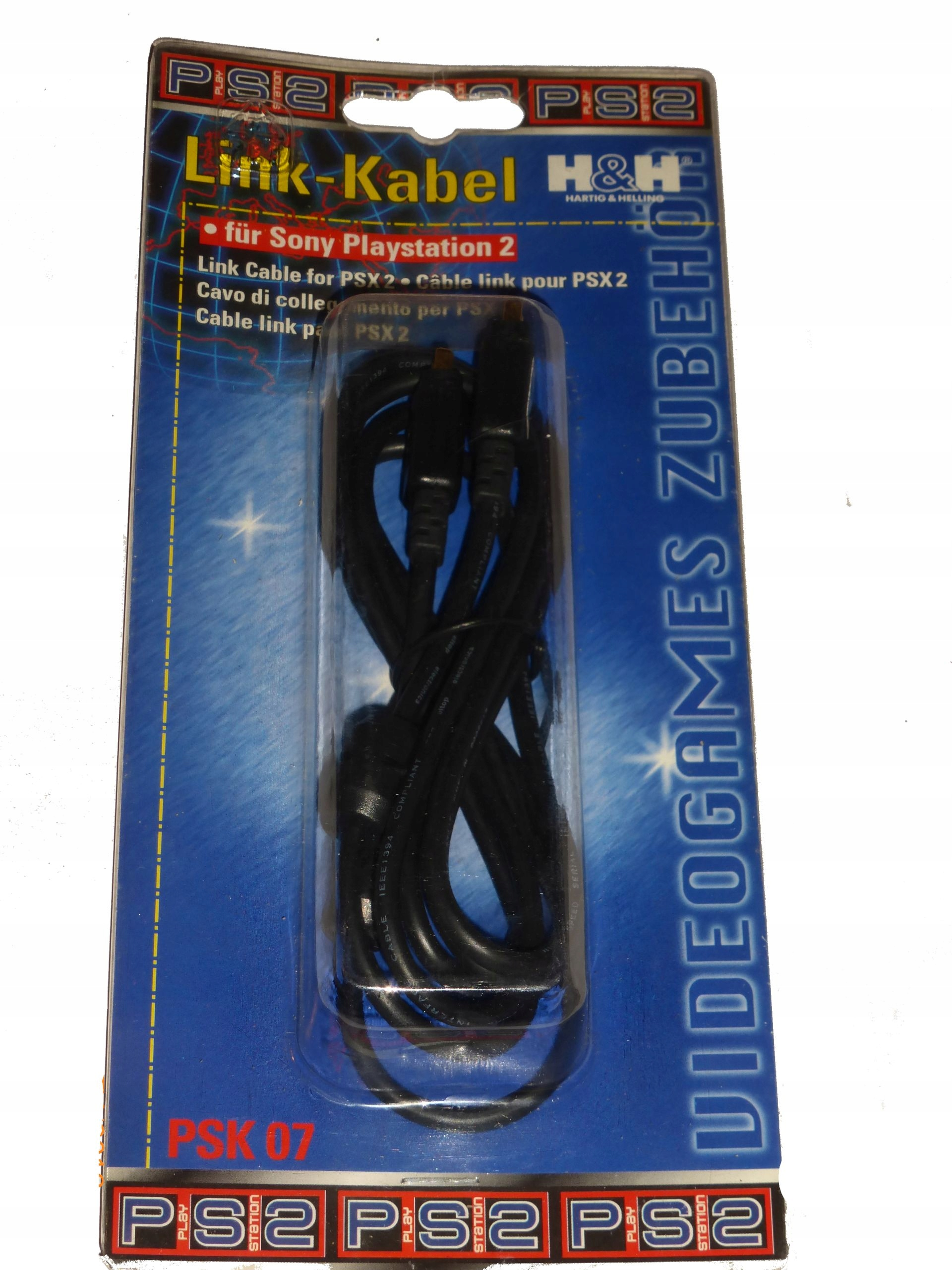 Item cable to connect 2 consoles PSX and PS One 2m NEW