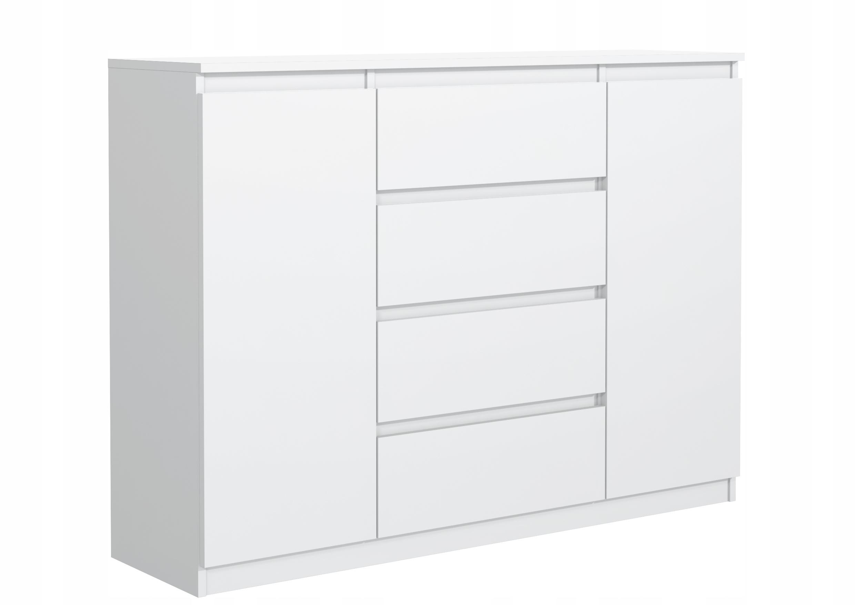 белая КОМОД 120 см 4 ящик 2 двери от производителя