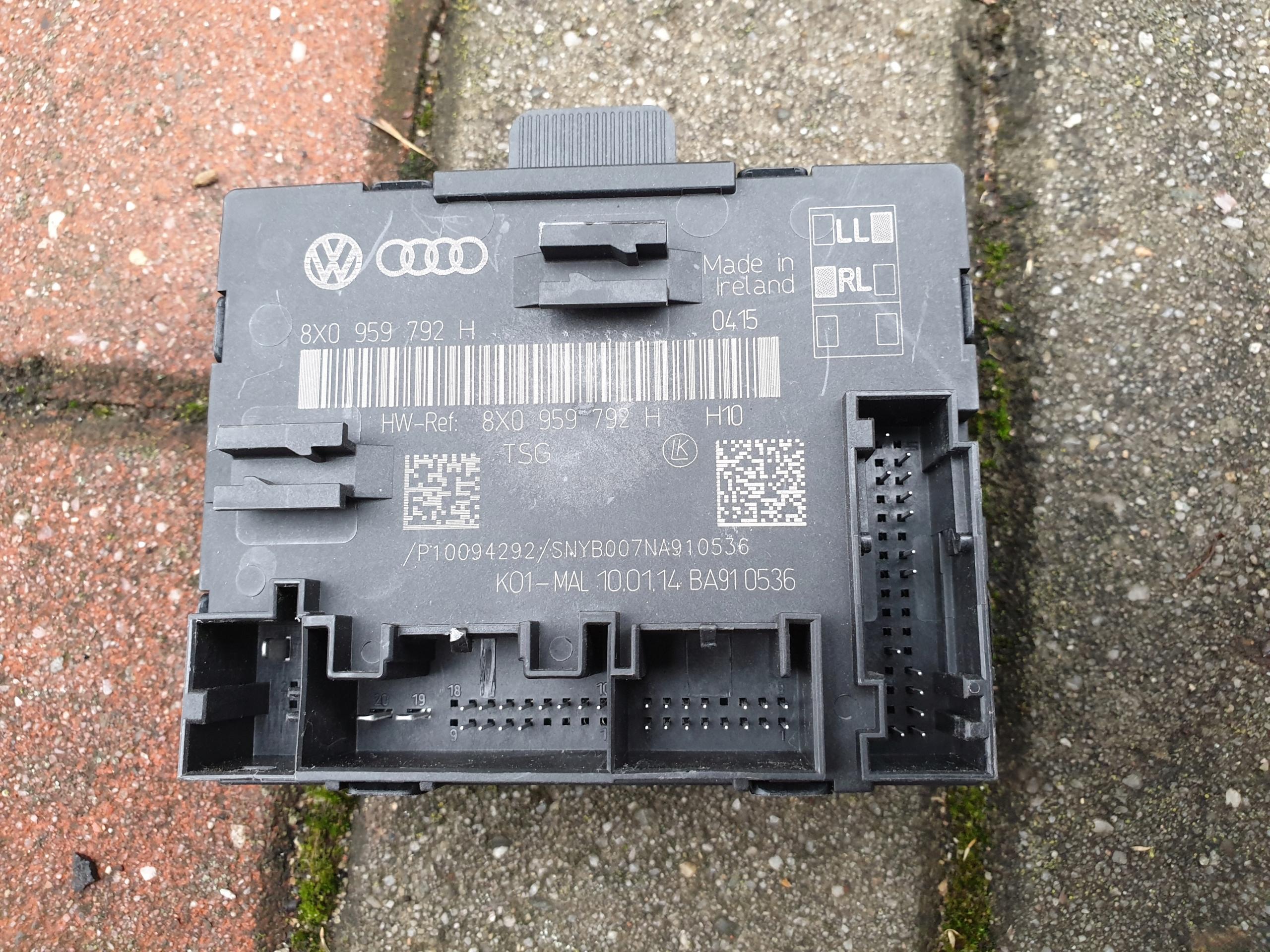 модуль драйвер двери правый вперед skoda superb ii