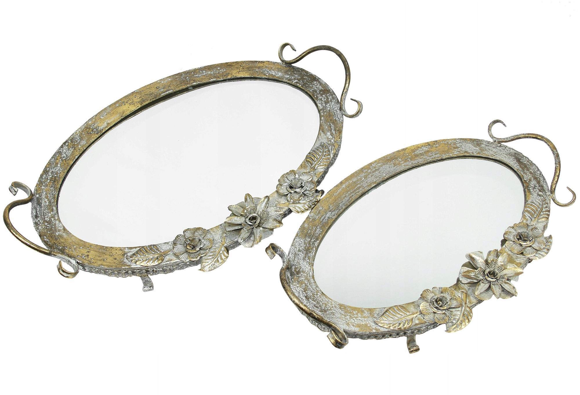 Vaničky s retro zrkadlom 2 ks
