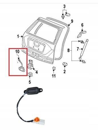 кнопку выключатель открытия багажник honda cr-v