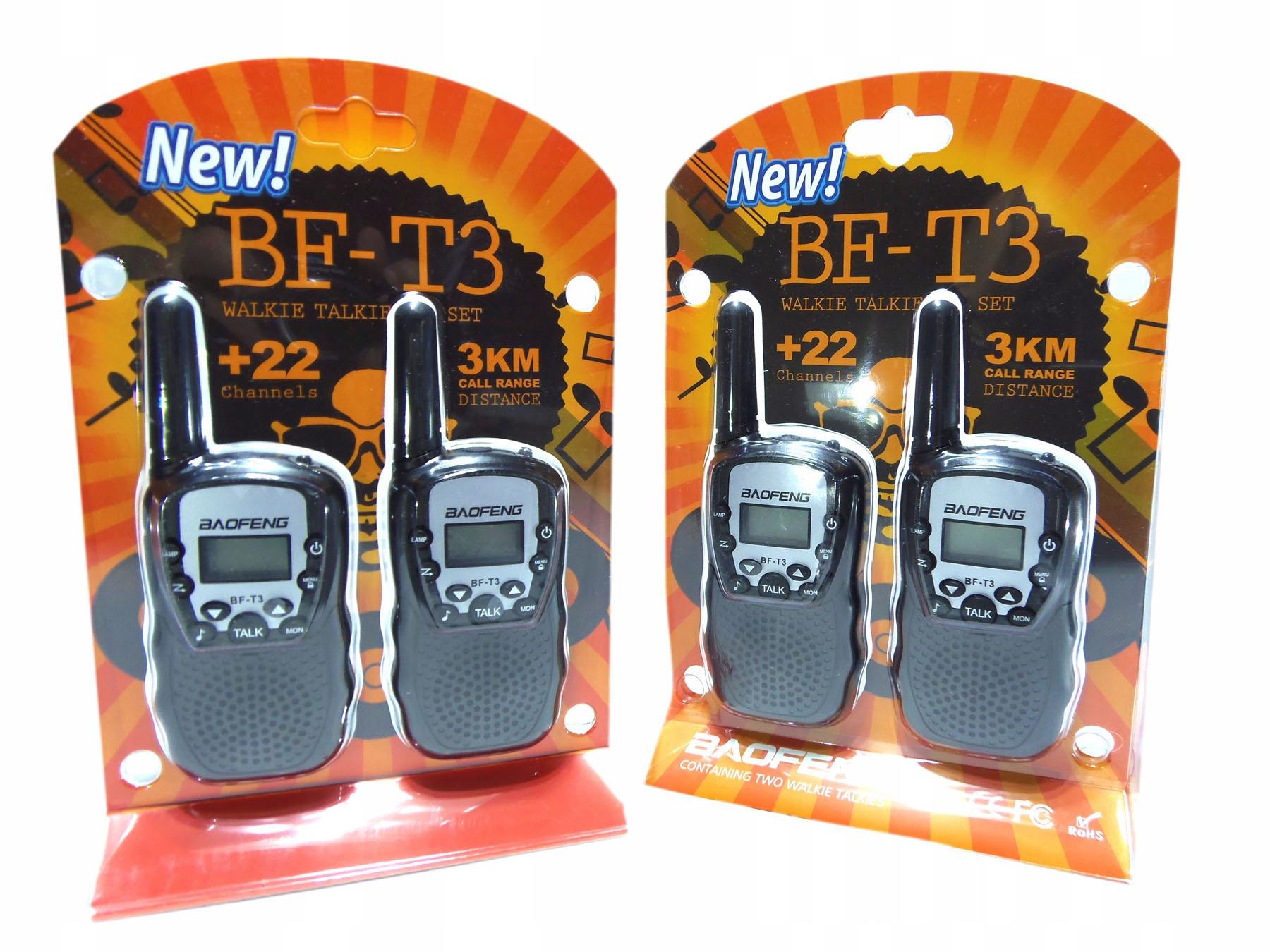 Rádio Walkie Talkie Baofeng BF-T3