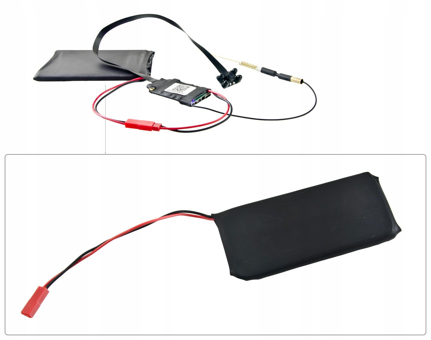+MINI KAMERA IP WIFI P2P NOC 4xIR FULL HD DETEKCJA Informacje dodatkowe wbudowana lampa Wi-Fi złącze mikrofonowe