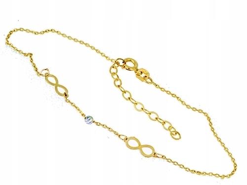 náramok gold 585 - infinity - Rokarte