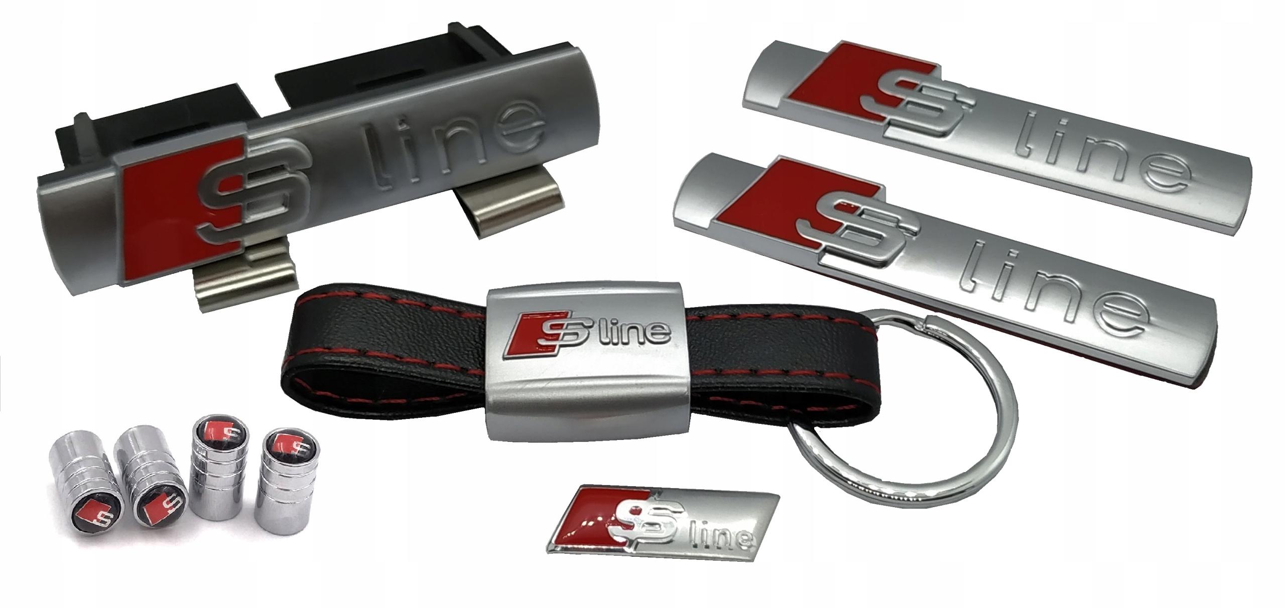 Значки S-LINE решетка из цельного металла с хромированным покрытием
