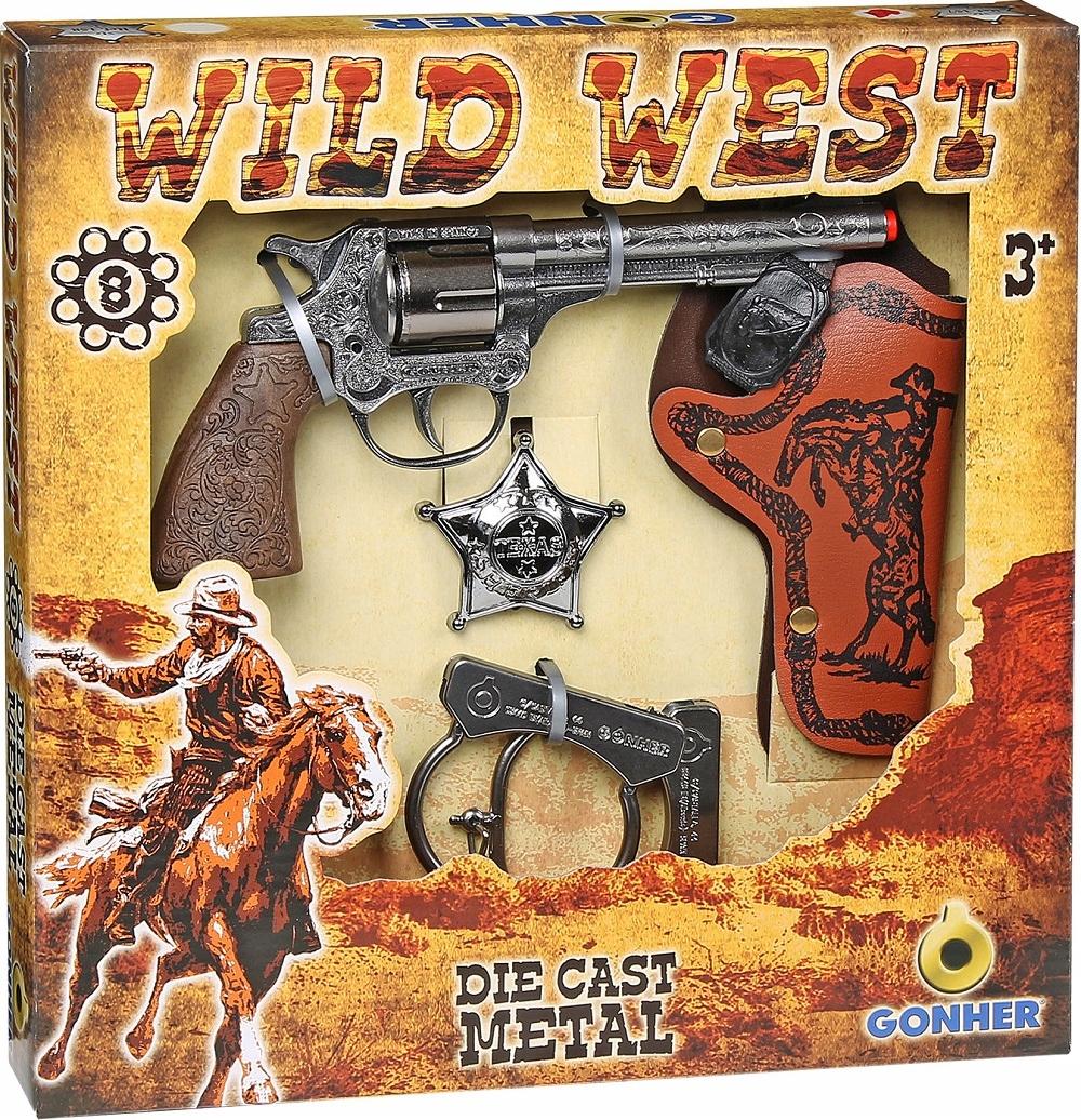 Kovbojská sada GONHER - revolver s puzdrom 157/0