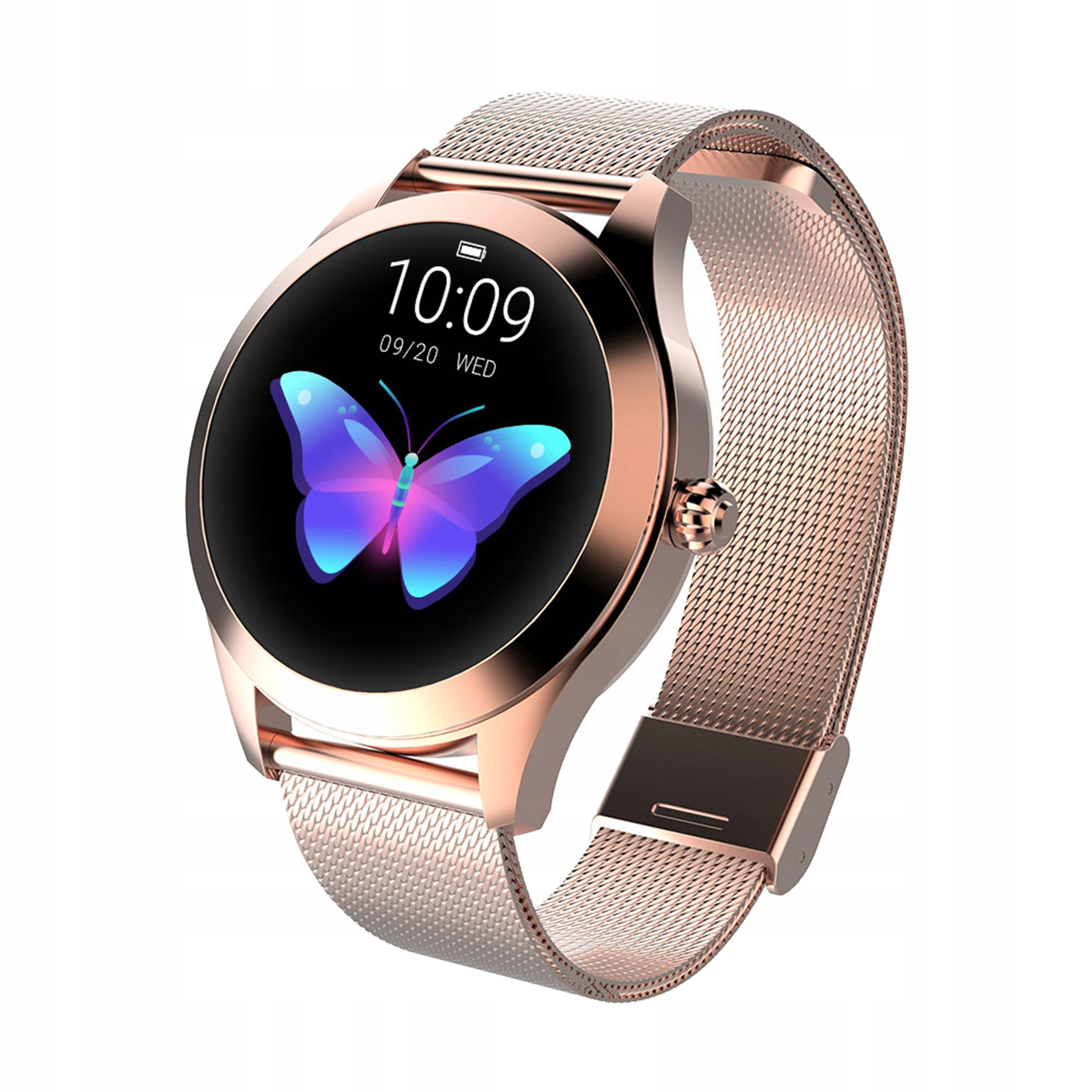 Item Women's Smartwatch OLED KW10 DESIGN steps, the pulse cycle