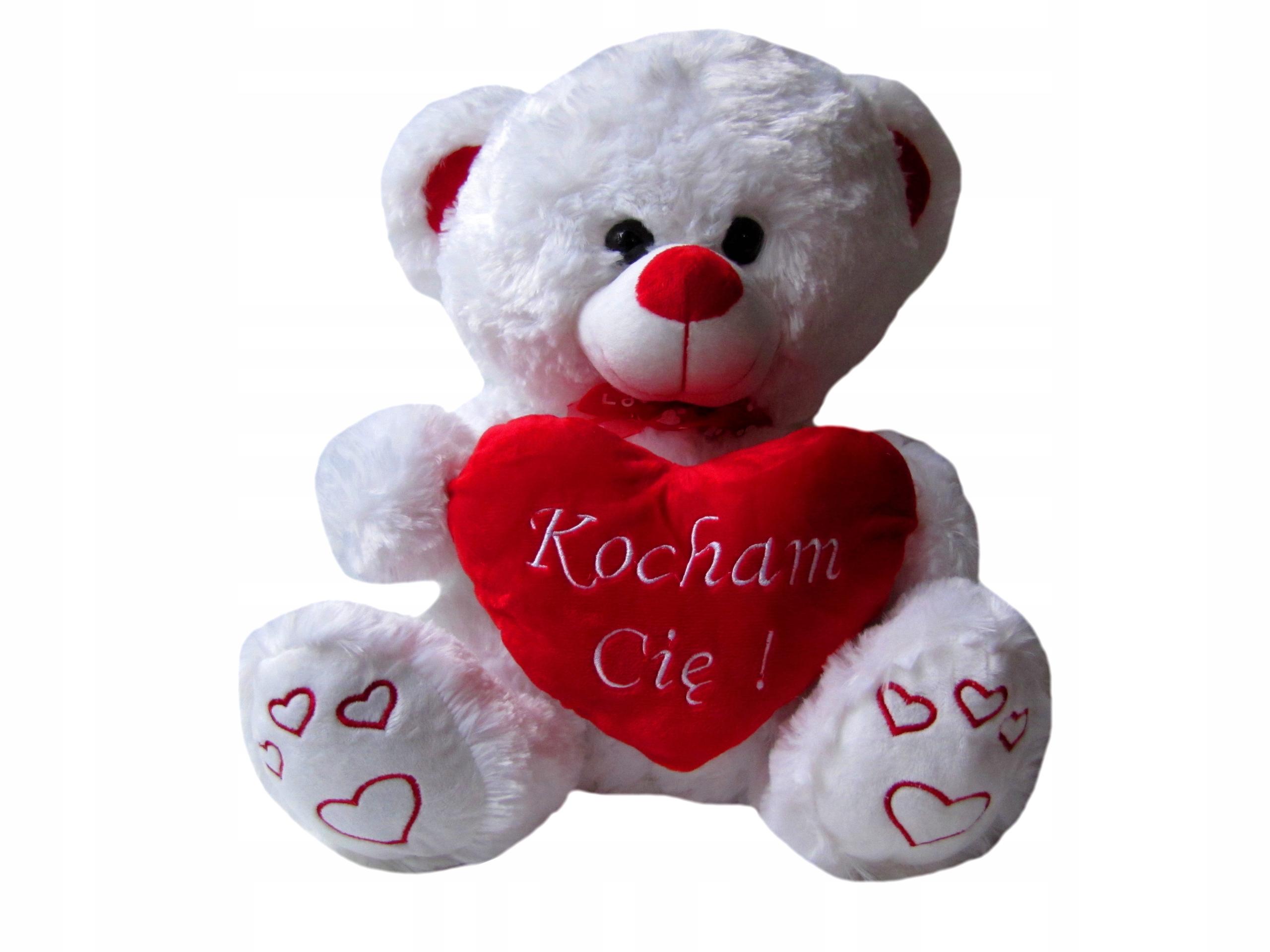 Mis Pluszowy Serce Haft Kocham Cie Na Walentynki 7799840903 Allegro Pl