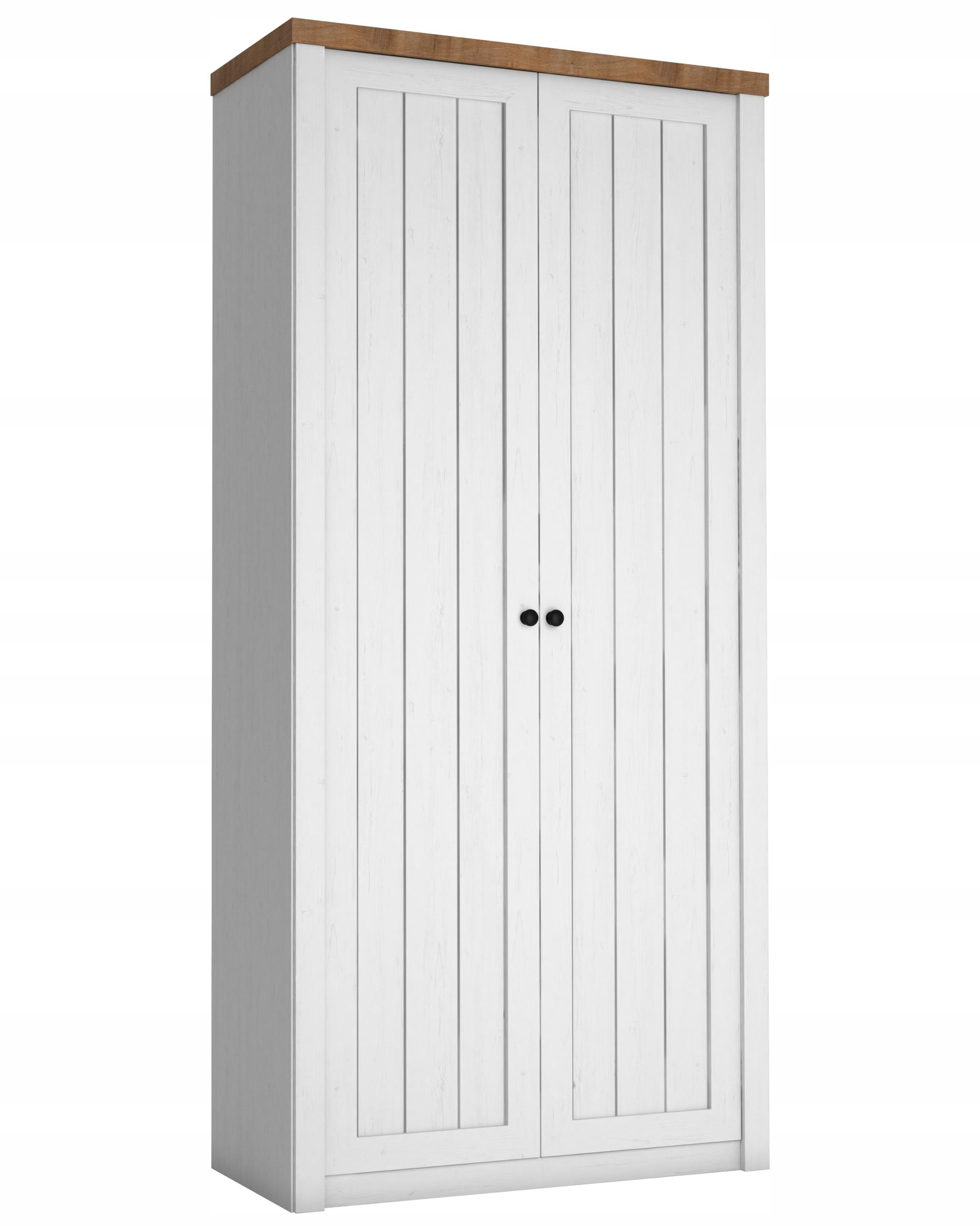Biela 2-dverová skriňa, retro štýl Provence