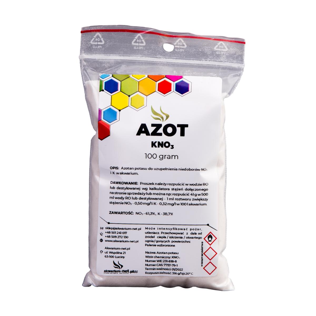 AZOT - KNO3 100 g (CZYSTY DO 99,9%)