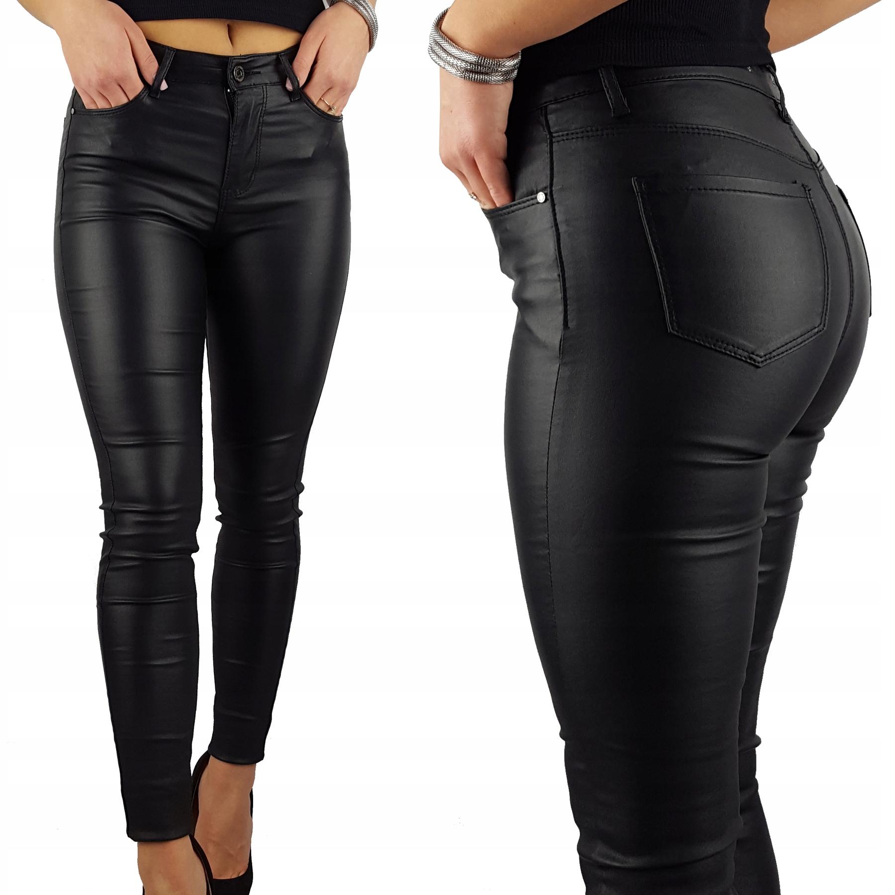 Damskie Spodnie Modelujące Woskowane Plus Size