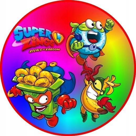 Opłatek na Tort Super Zings
