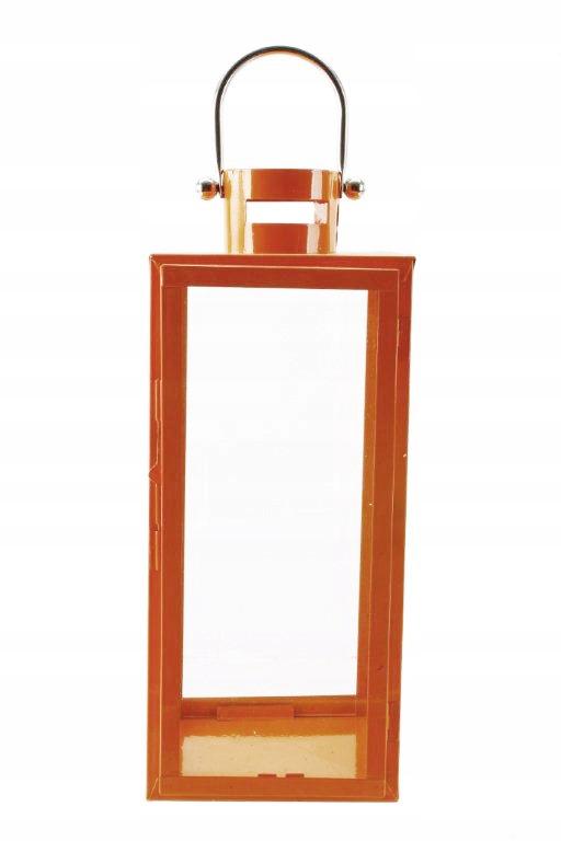 Oranžové kovové / x sklenené lucerny