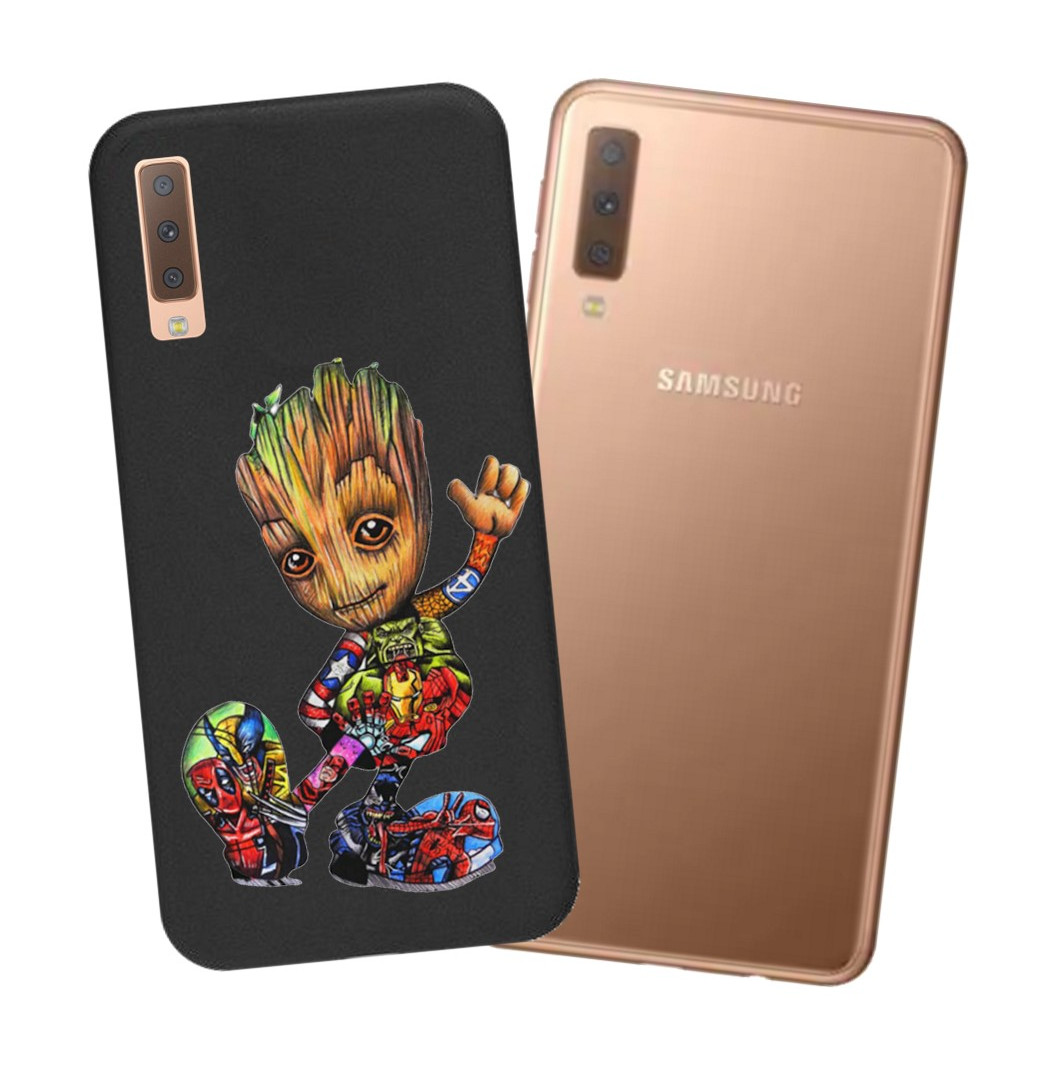 Etui Matowe Matt Case do Samsung A70 wzory