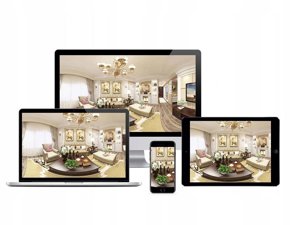 Kamera IP WiFi monitoring 360 w żarówce LED audio Obiektyw stałoogniskowy