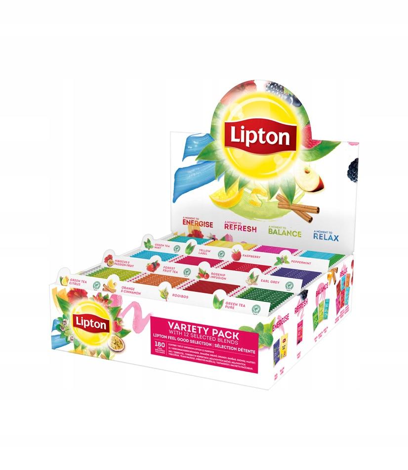 Lipton čaj Variety Pack 12 príchutiach - 180 obálok