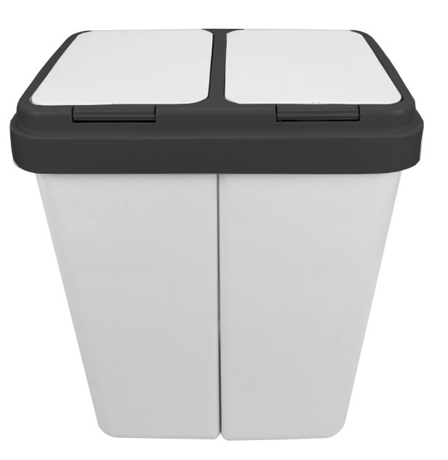 Двойной Корзина для сегрегации мусора, отходов 2x25l