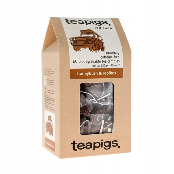 Med a teapigs Rooibos čaj 50 piramidek