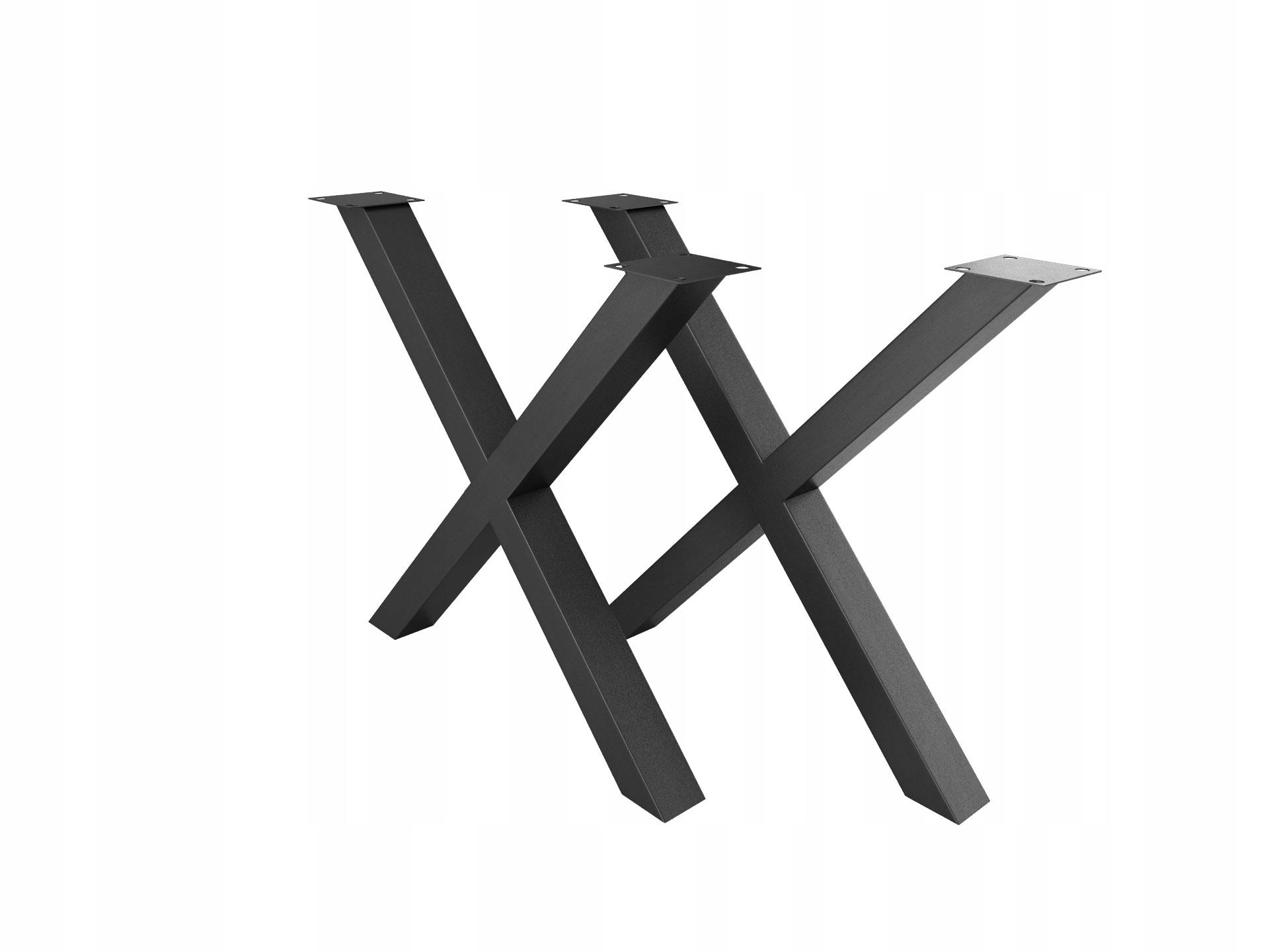 Nogi do stołu ławy X Loft industrial komplet 2szt.
