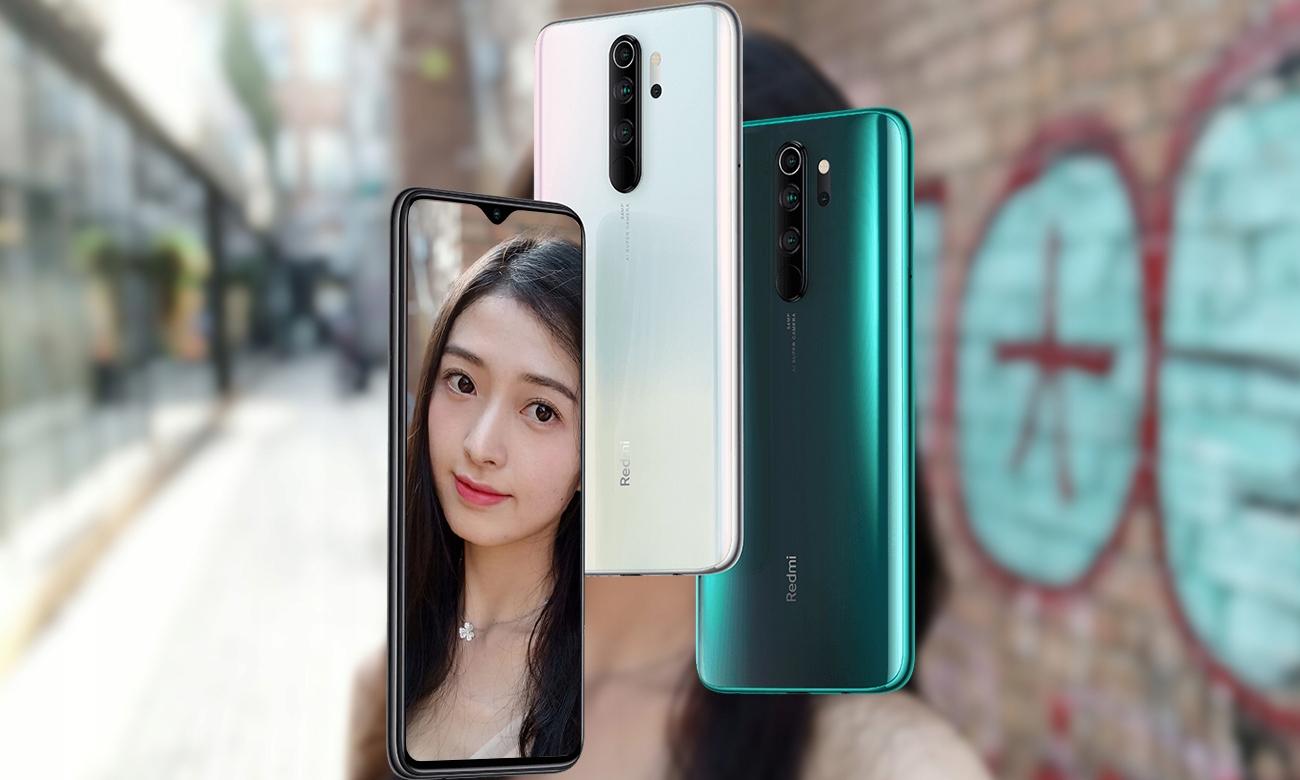 Smartfon Xiaomi Redmi Note 8 Pro 6/128GB NFC GPS Materiał aluminium szkło