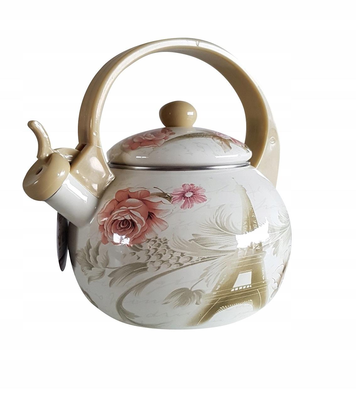Чайник EDENBERG на 2,2 л, эмалированный со свистком