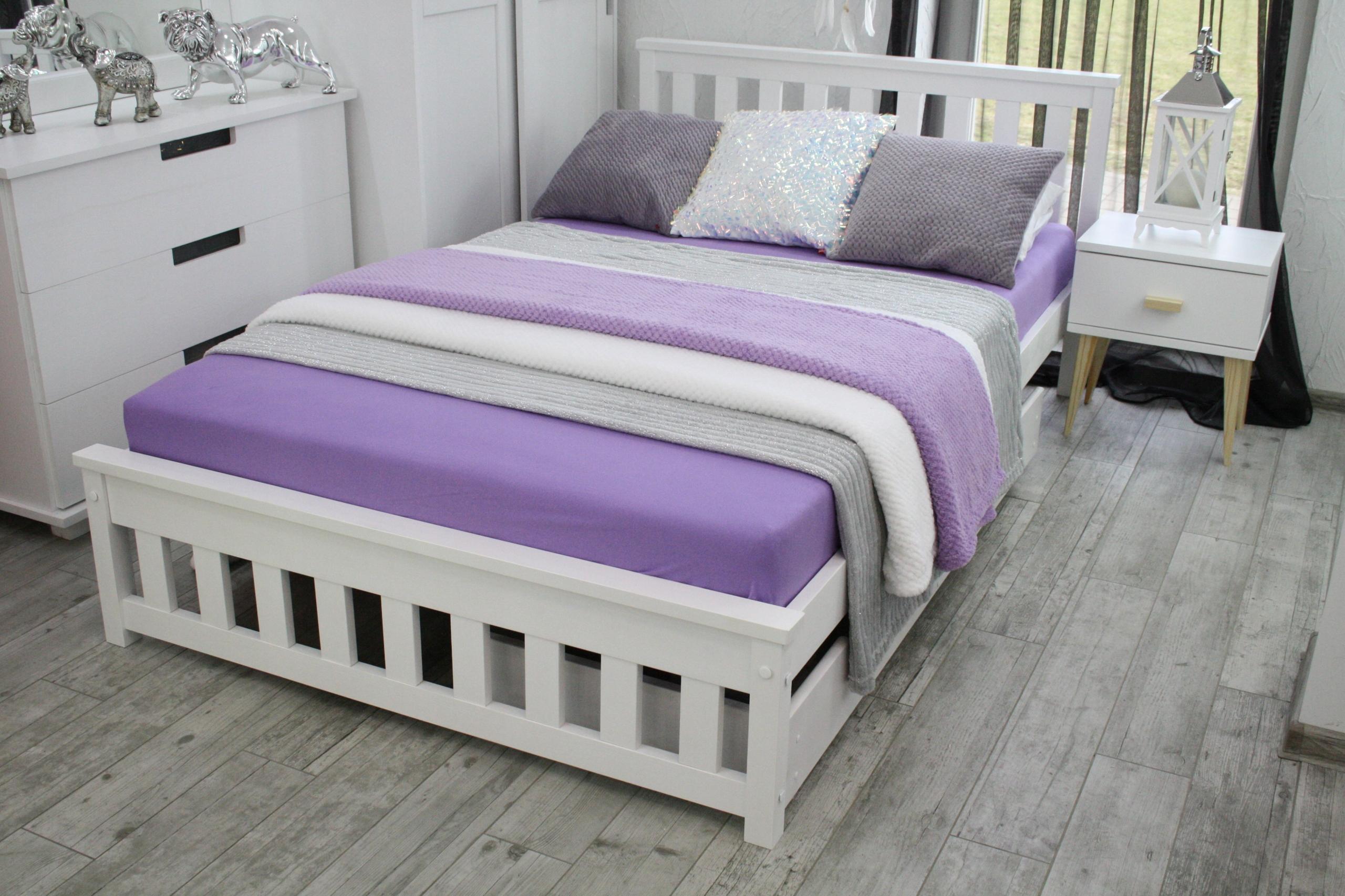 73f8fdeee2fc3 Drevená posteľ biela IGA 120x200+RÁM VÝROBCA