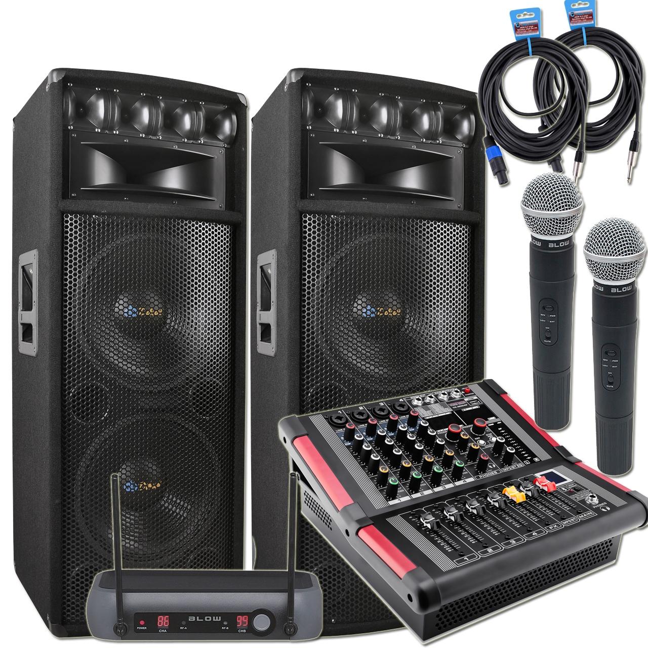 Купить Напольный Комплект Колонок + PowerMikser + микрофоны на Otpravka - цены и фото - доставка из Польши и стран Европы в Украину.