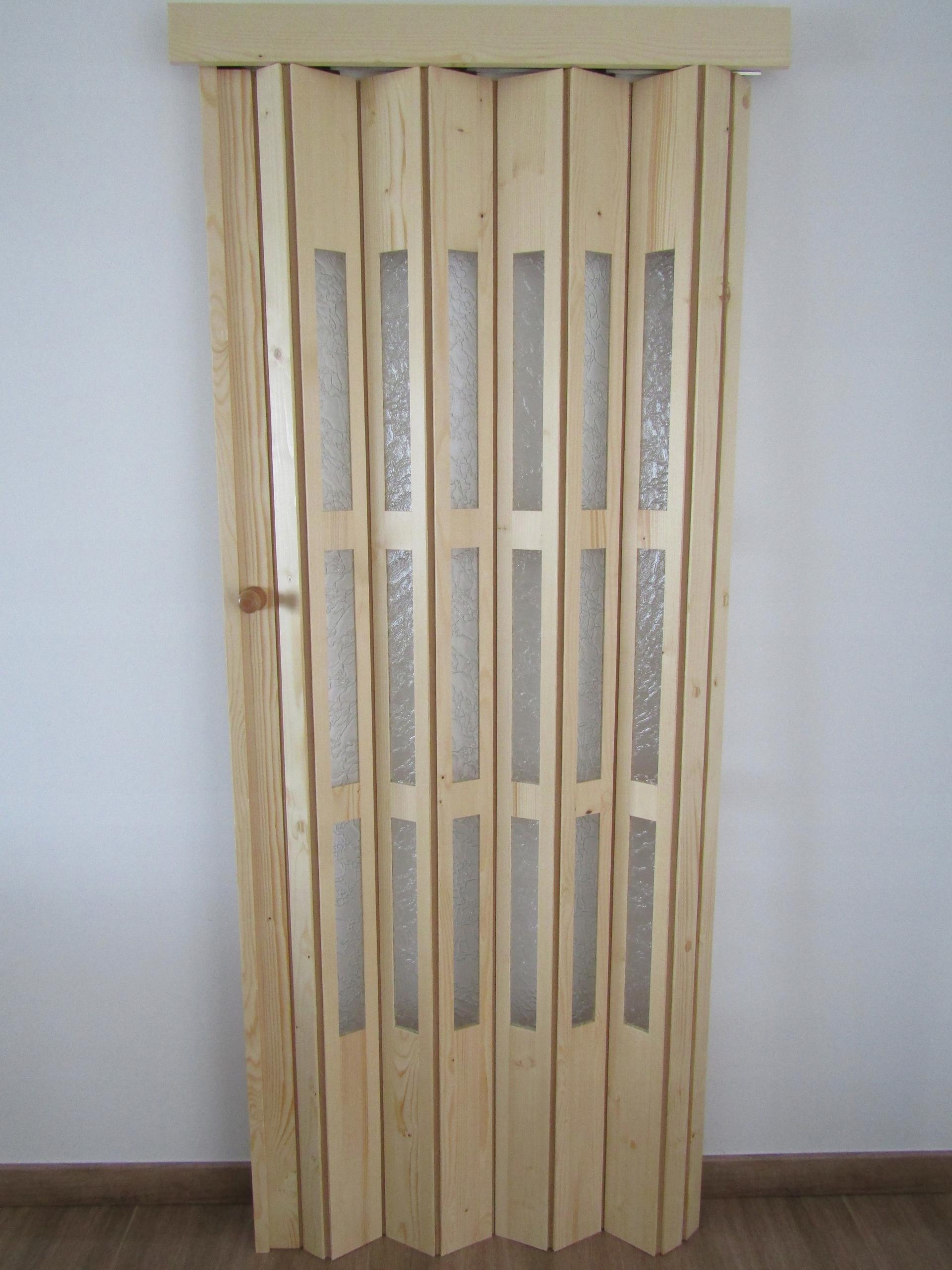 Solidne Drzwi Harmonijkowe Drewniane Wymiary Kolor 7398600485 Allegro Pl