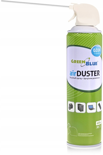 Item ACTION - COMPRESSED AIR + TUBE 600 ml GREEN