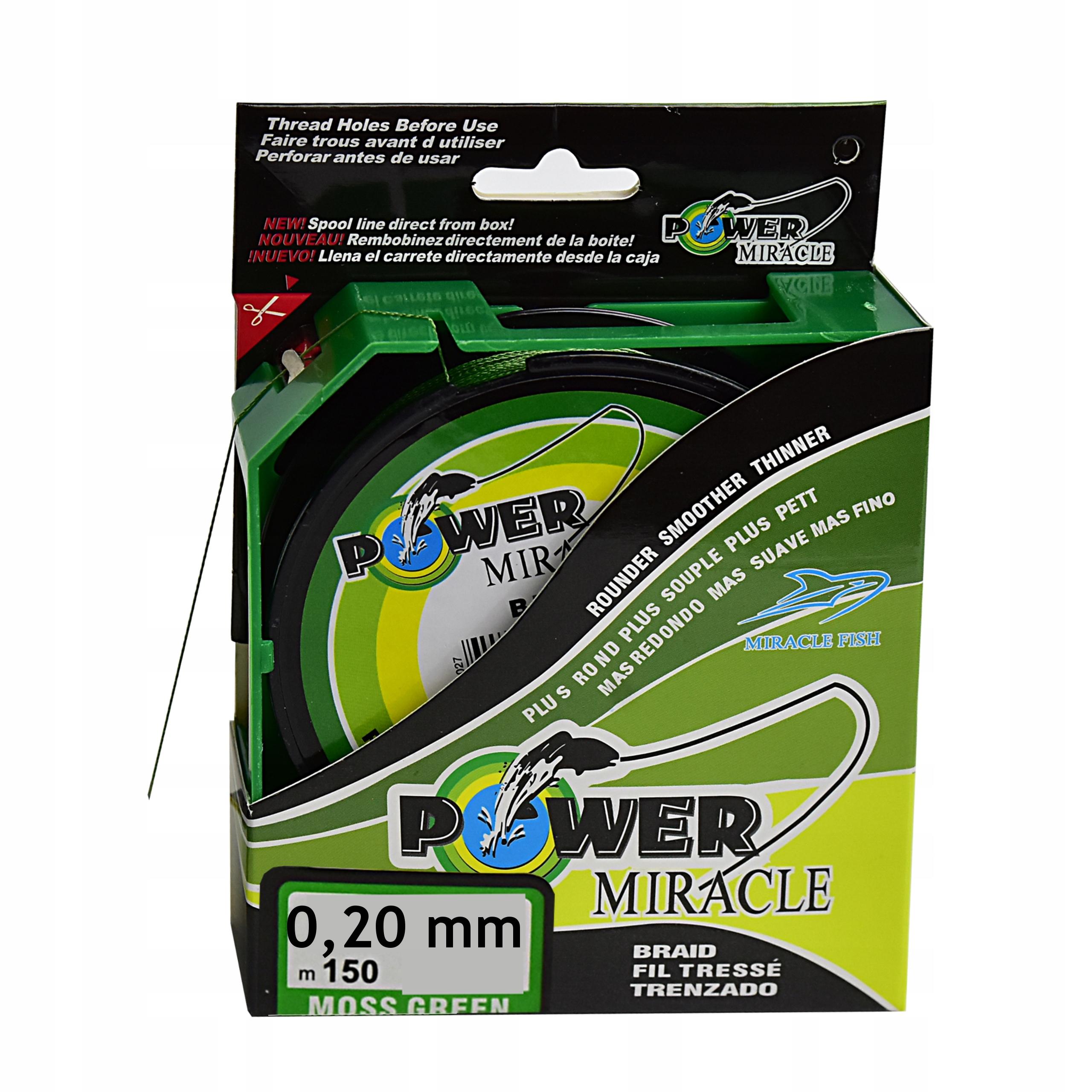 PLECIONKA WĘDKARSKA 150m POWER Zielona 0,20 mm