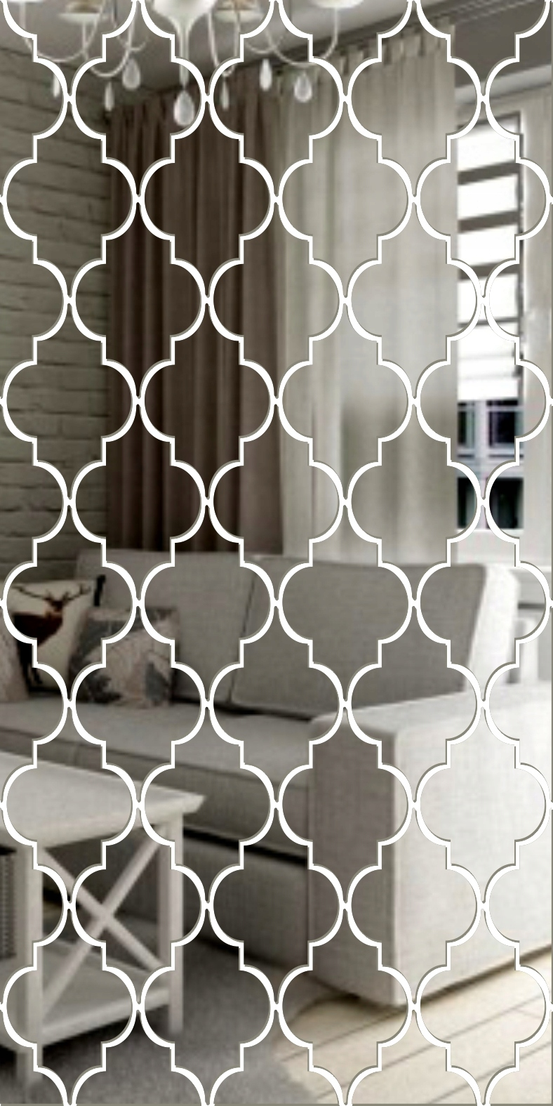 Декоративное акриловое зеркало Clover