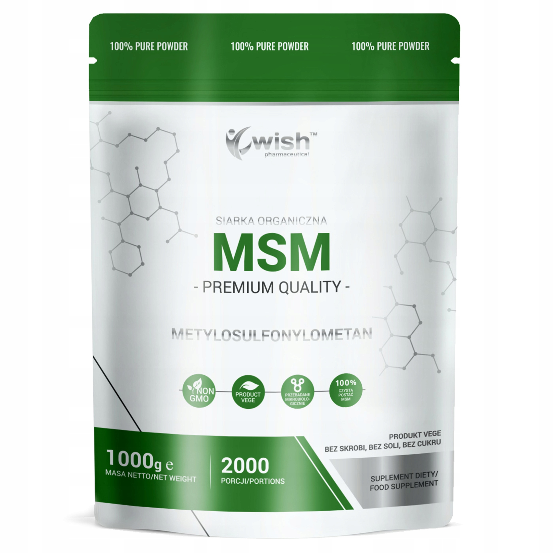 Item MSM Sulphur Organic Powder 1kg Product of Plant