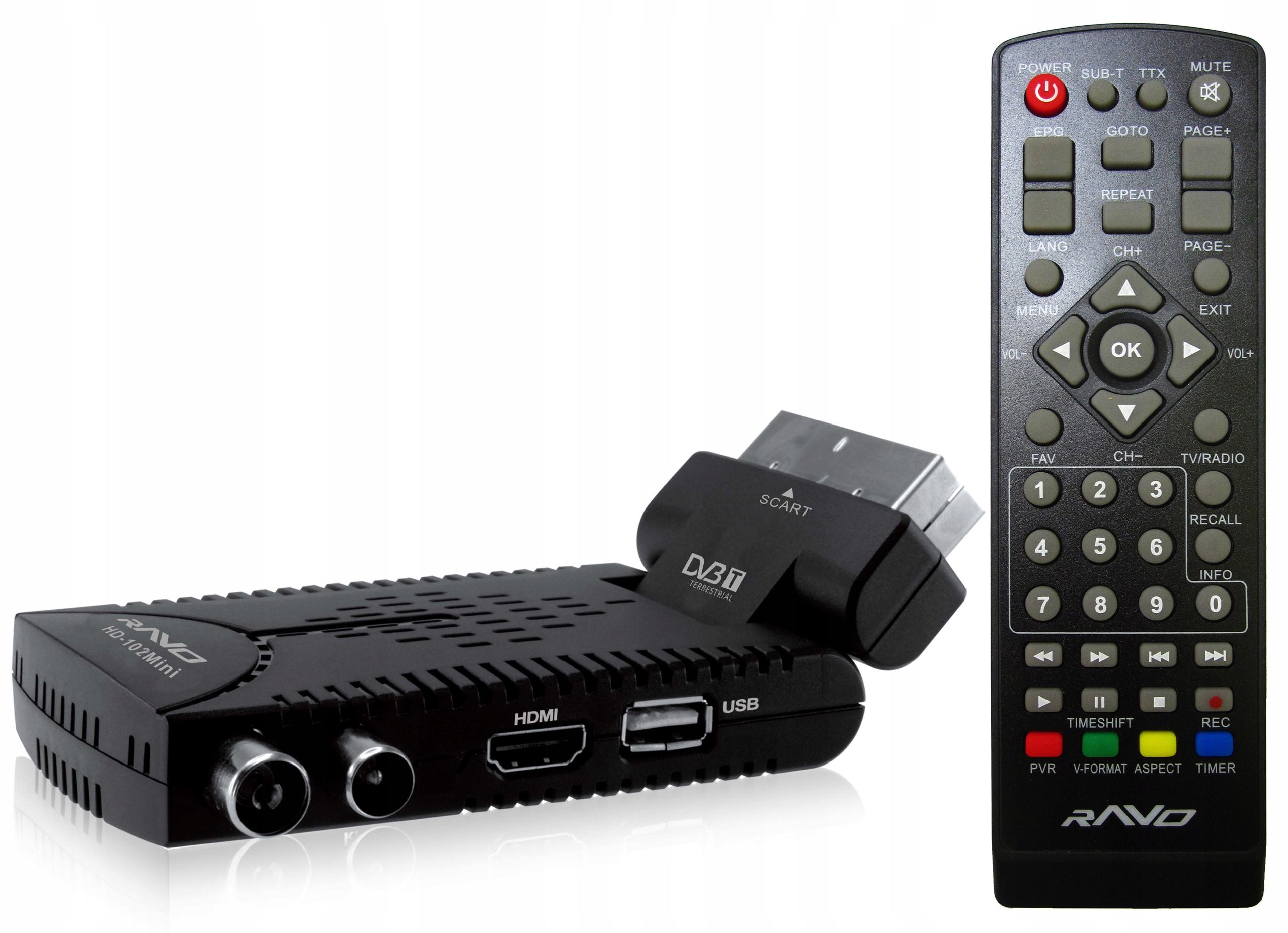 DVB-T TUNER HD-102Mini DEKODER HD MUX8 8519111937 - Sklep internetowy AGD, RTV, telefony, laptopy - Allegro.pl