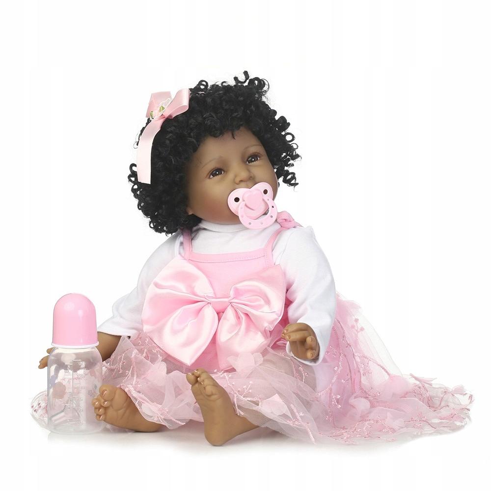 Bábika REBORN 55cm Boneca Little Negress
