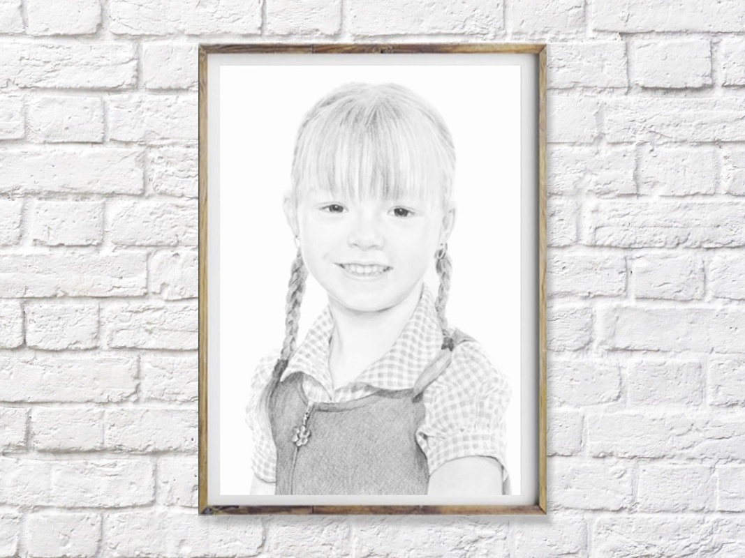 Item PORTRAIT from photo to order - Pencil A4 ~ B1