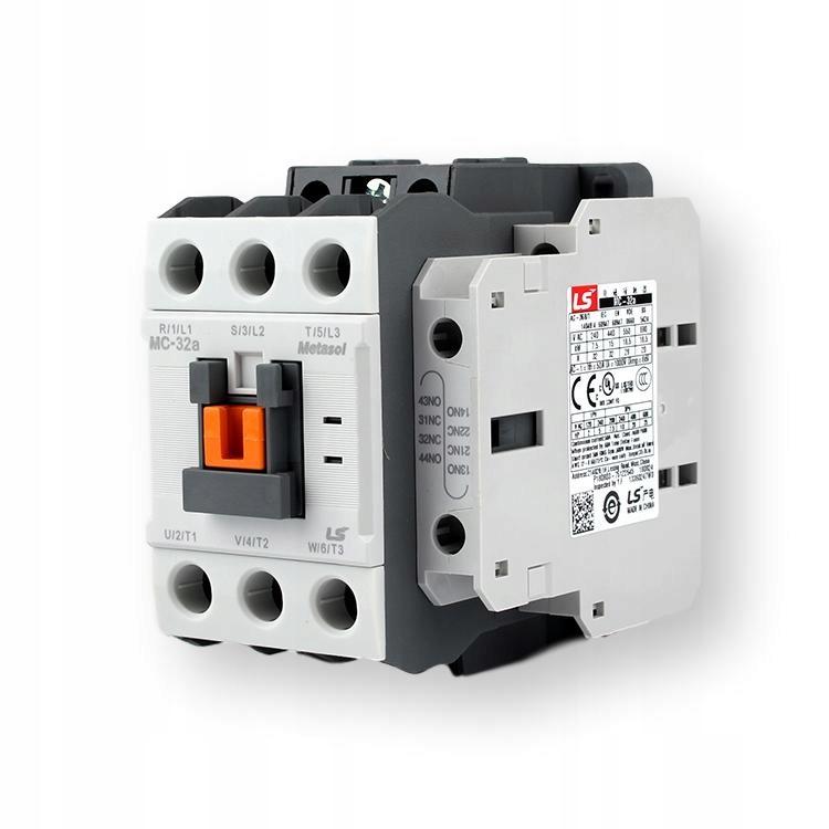 Контактор мощности 15 квт 32А катушка 230VAC MC32-a КОРЕЯ