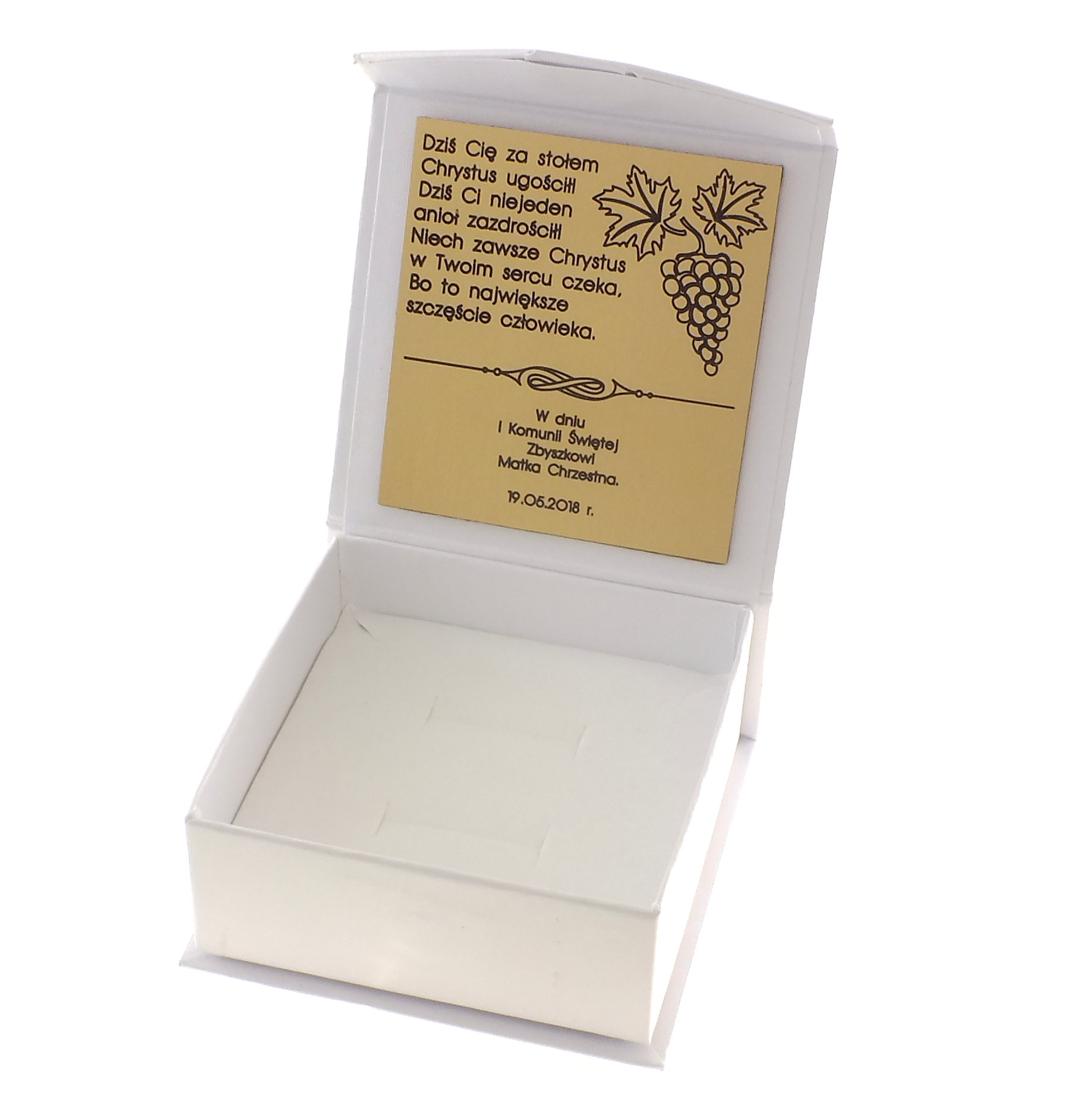 Item COMMUNICATION BOX GIFT WHITE DECORATIVE ENGRAVER
