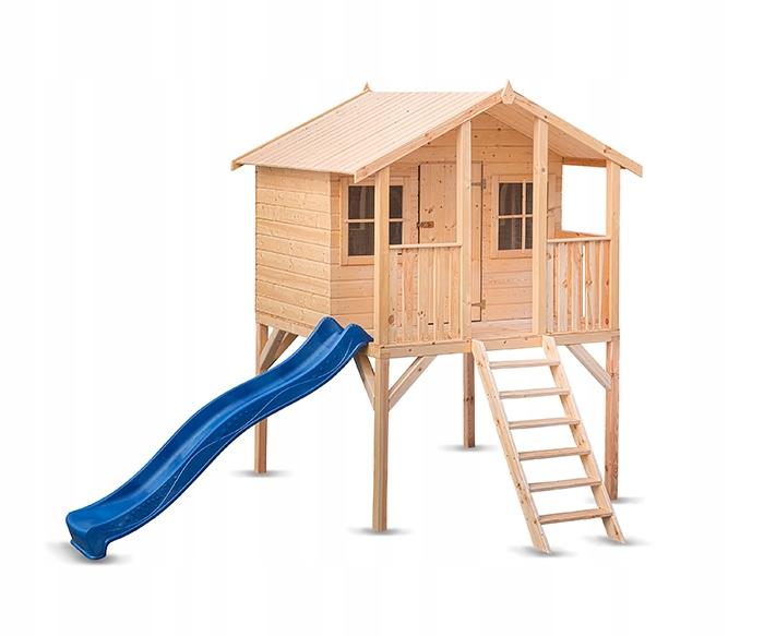 Domek Drewniany Plac Zabaw Borys ze zjeżdżalnią