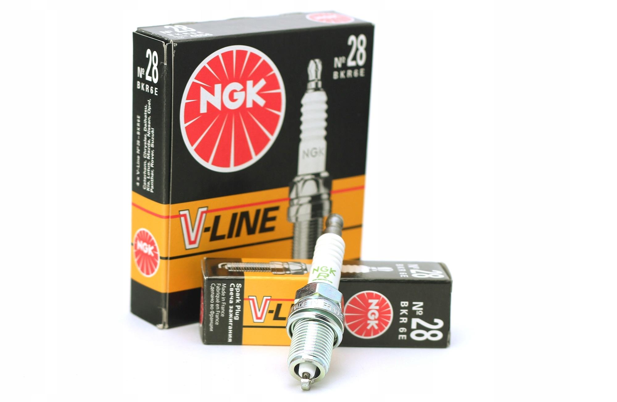 Свеча зажигания ngk v-line 28 bkr6e 4856