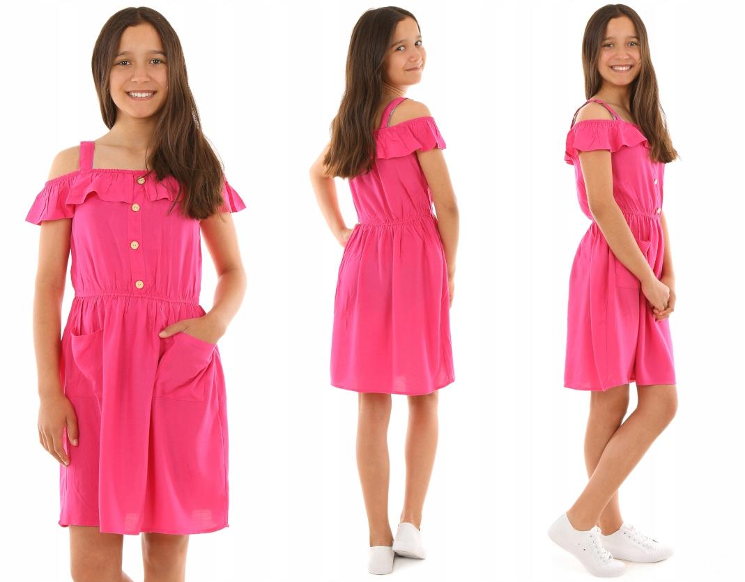 Расклешенное платье с FALBANKA - 158 KROPEK