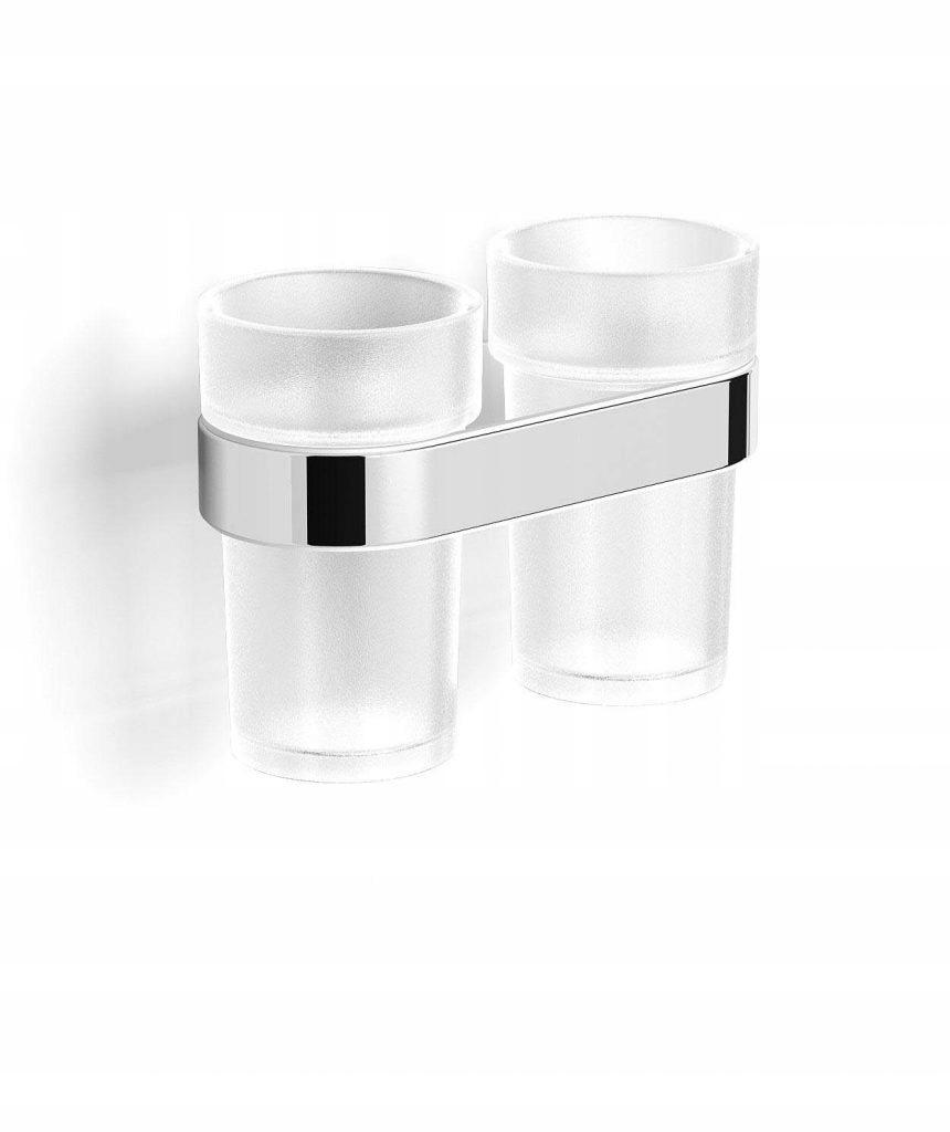 Dvojitý kúpeľňový pohár + rukoväť Stella SOUL chróm