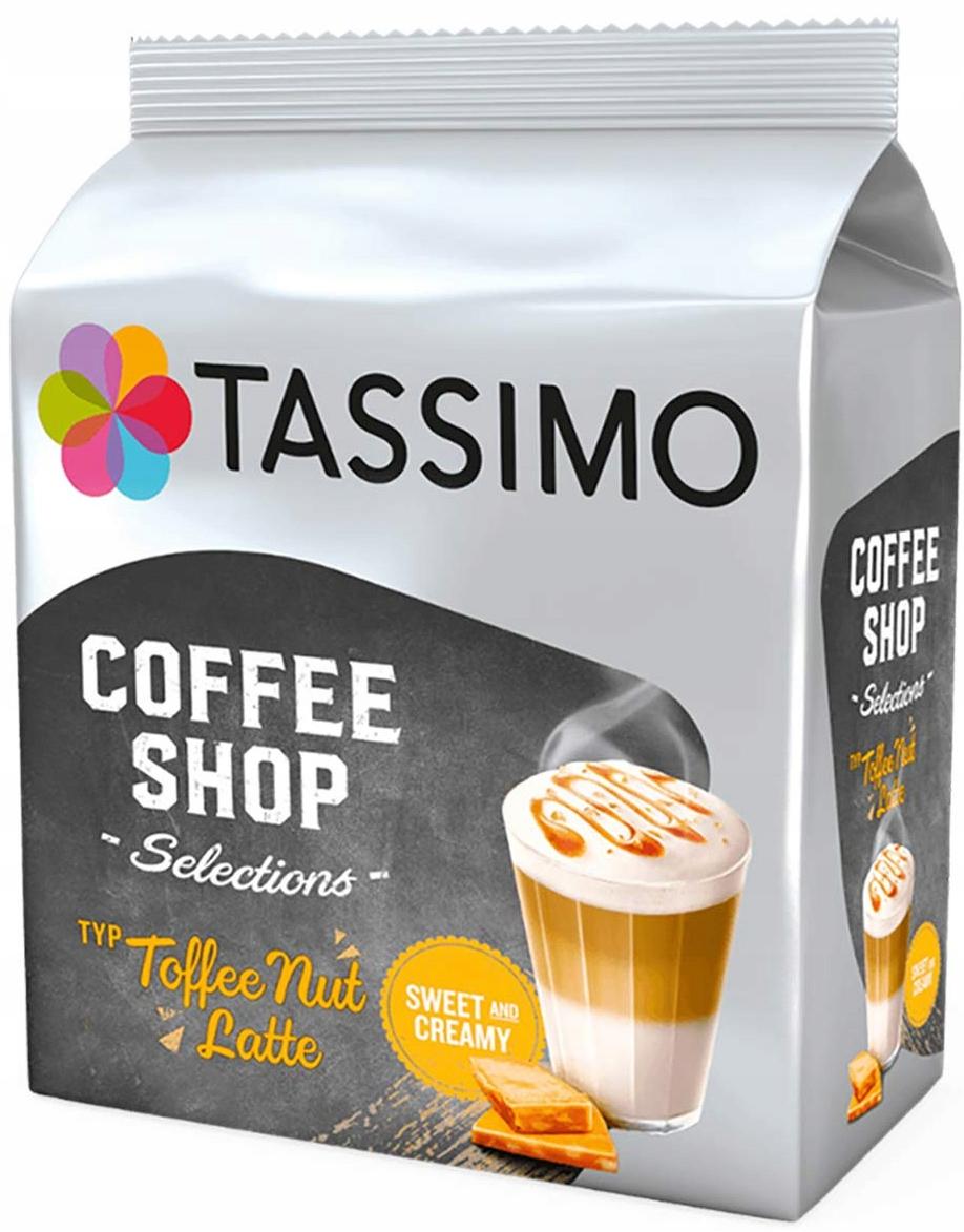 NEW капсулы TASSIMO Ириска Nut Latte 8 Creamy