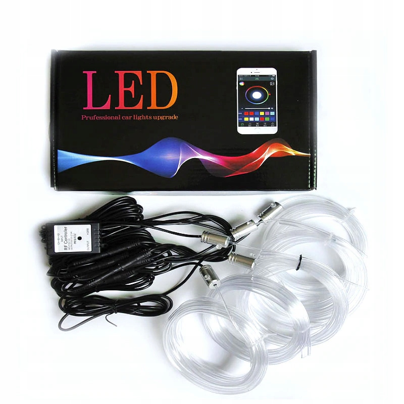 5m 6m Волоконно-оптический кабель el wire led rgb ambient пульт приложение