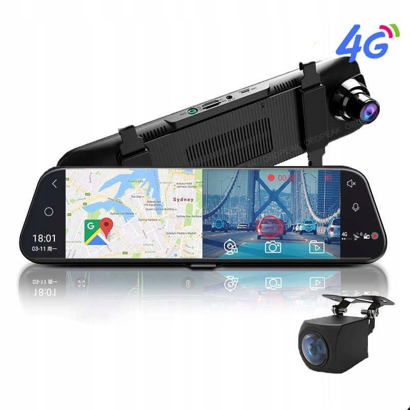 Rejestrator 2020 Lusterko Android ADAS 4G WiFi GPS