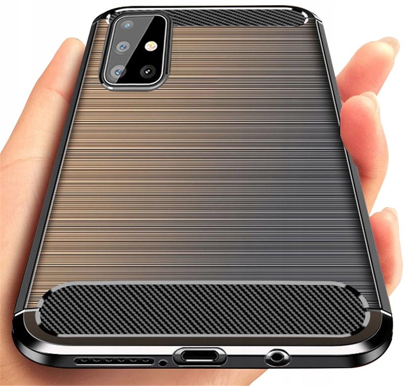 ETUI do Samsung Galaxy M51 KARBON PANCERNE + SZKŁO