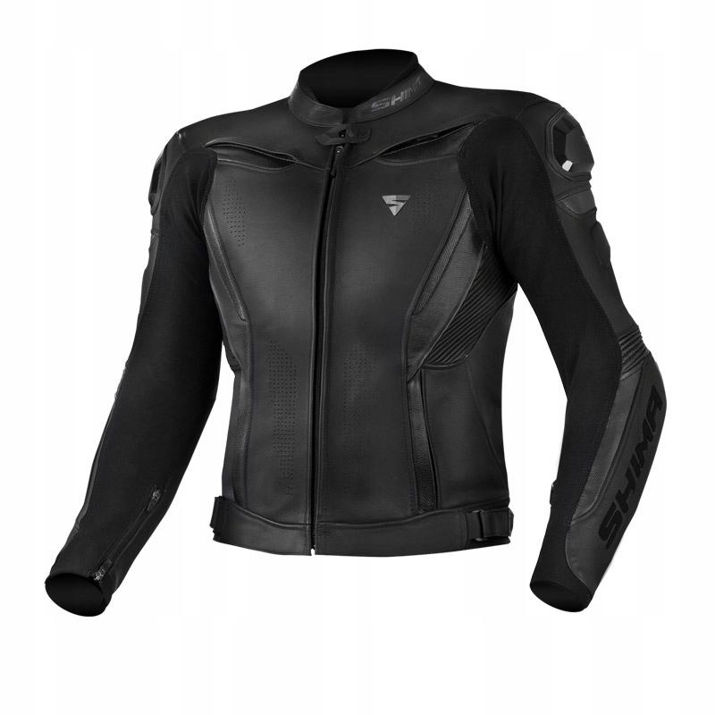 Кожаная куртка SHIMA CHASE BLACK XL 54 черная