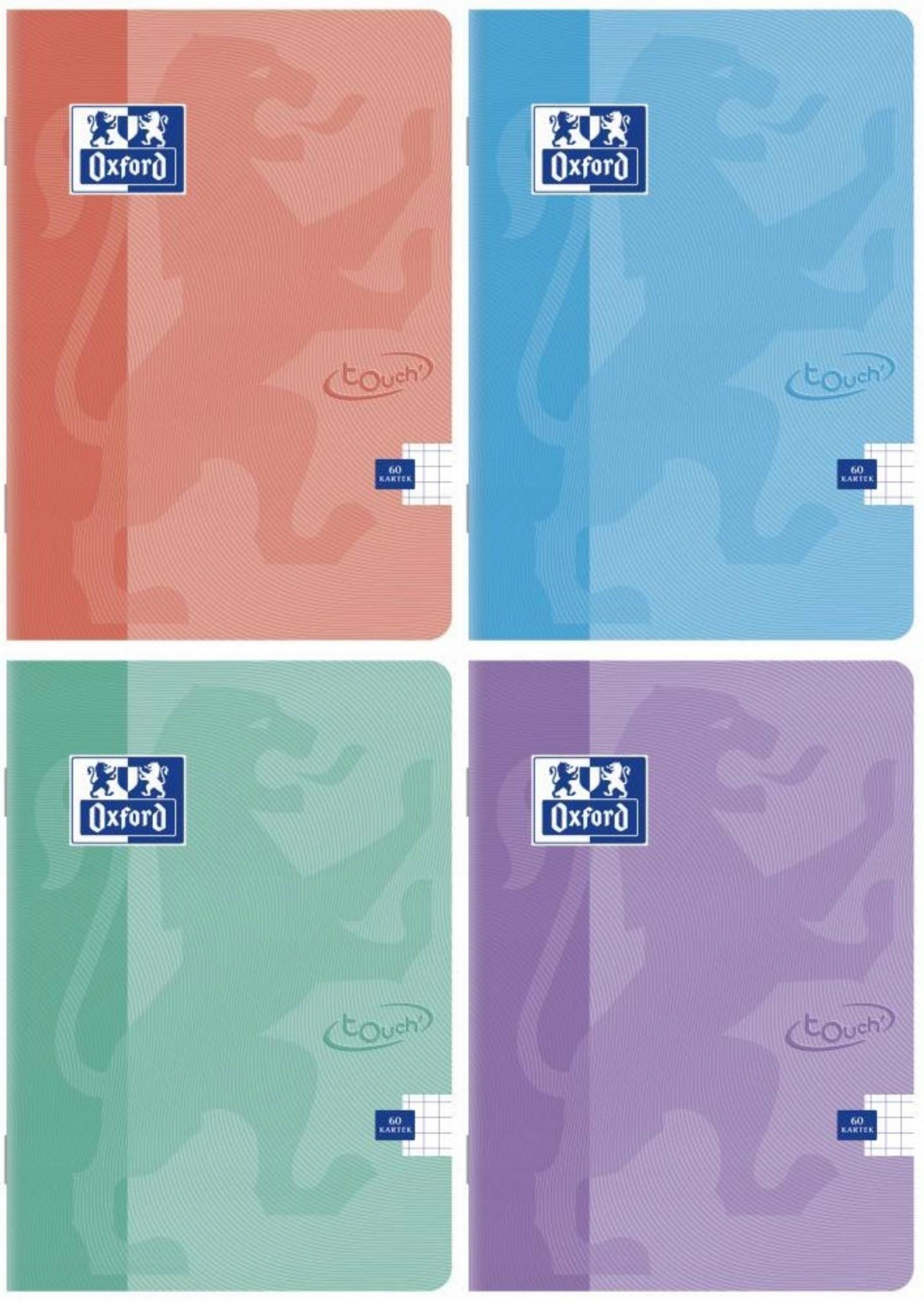 Oxford Zeszyt A5 60 Kartek Kratka Touch Pastel X 4 8361393174 Allegro Pl