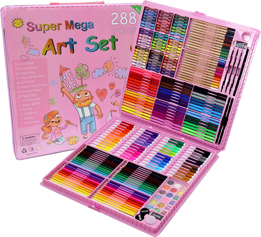Sada Mega Art 288 dielikov Fixky na pastelky