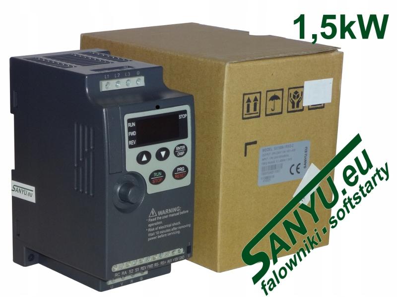Falownik SANYU SX1000-1R5G-2 (1x230V, 1,5kW)